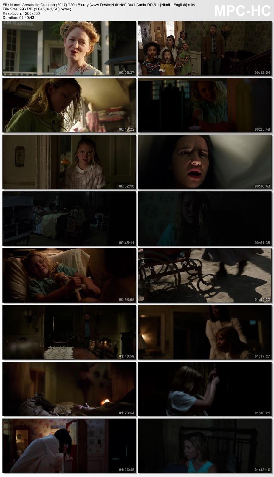 Annabelle Creation (2017) 720p Bluray Dual Audio DD 5.1 [Hindi – English] Desirehub