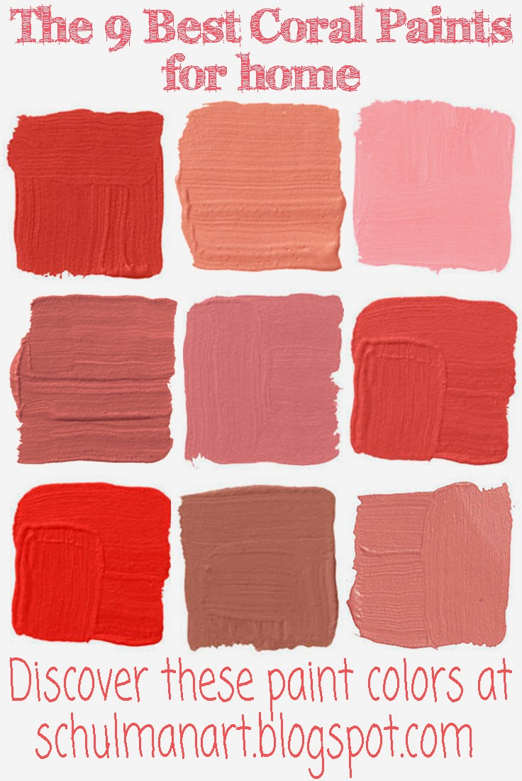 The Best 9 Coral Color Paint Shades  Schulman Art