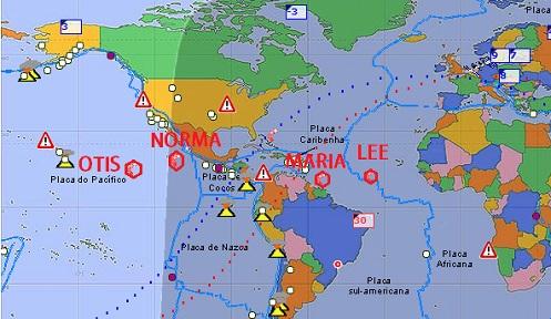 OTIS, MARIA, NORMA, LEE: Tempestades que estão se Transformando em FURACÕES e você ainda não acredita em HAARP?