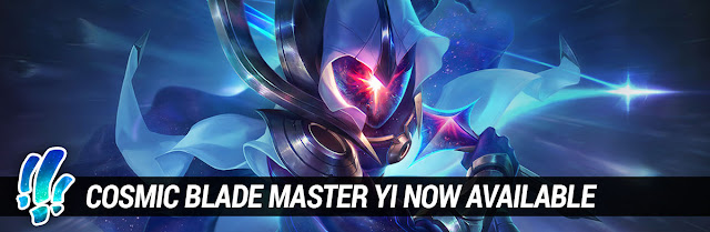 Surrender at 20: Cosmic Blade Master Yi Now Available