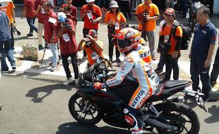 Ketika-Marc-Marquez-Jajal-Honda-CBR250RR-di-Sentul