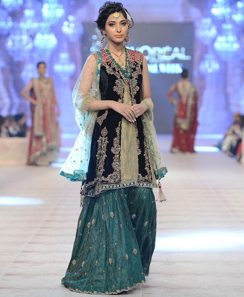 stylish bridal dresses sharara gharara designs