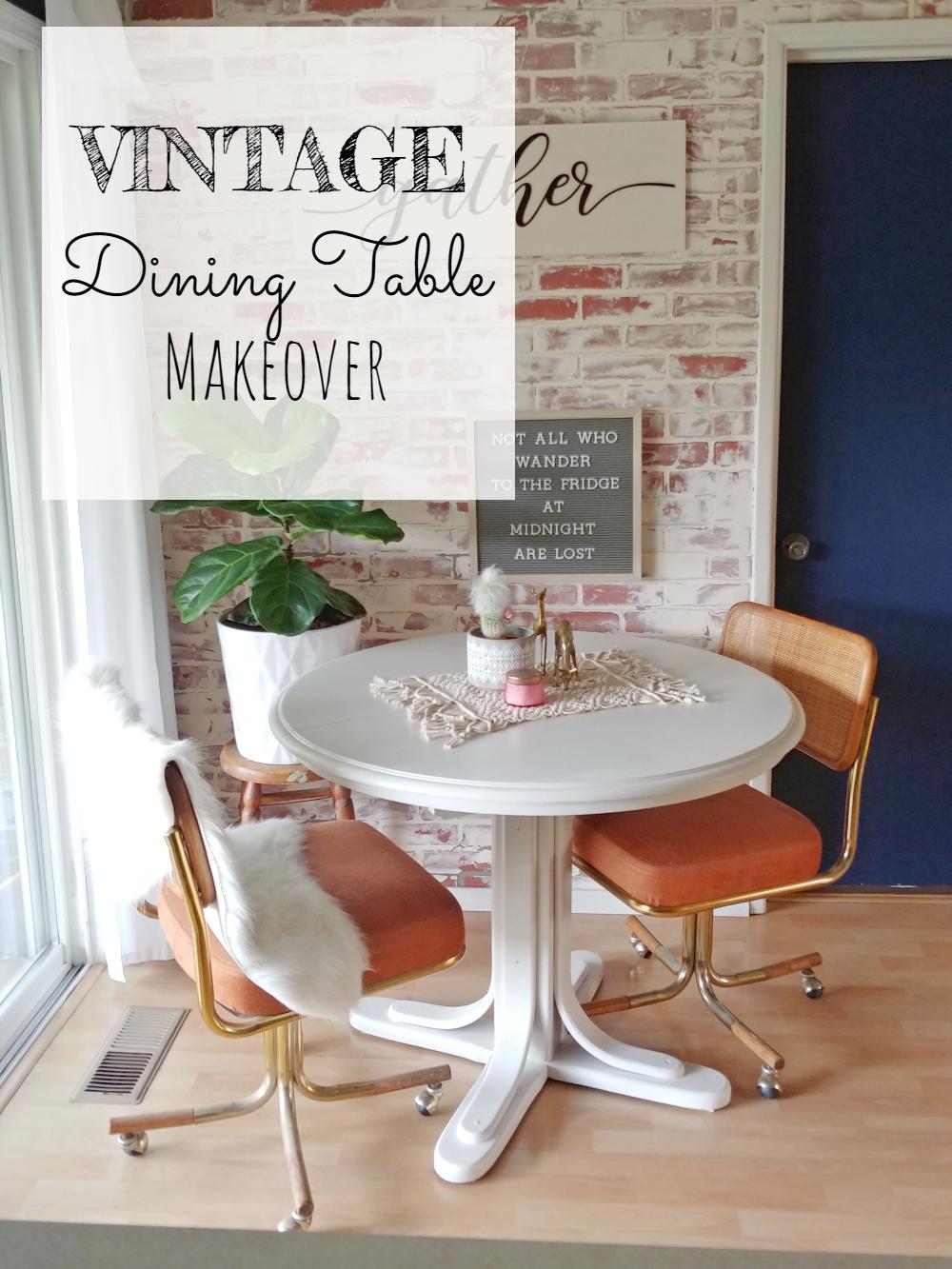 Vintage Dining Table Makeover - Little Vintage Cottage
