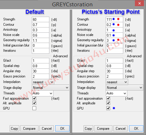 Oil Paint Plugin Setting