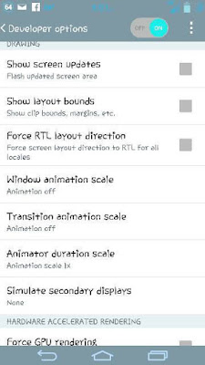 Turn off animation is best solution to make your device work faster.