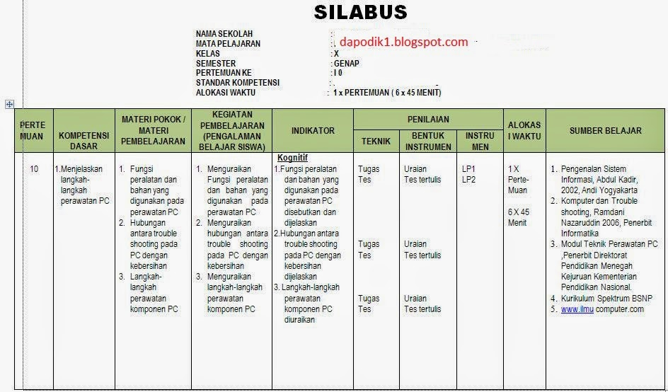 DOWNLOAD SILABUS KURIKULUM 2013 SMP