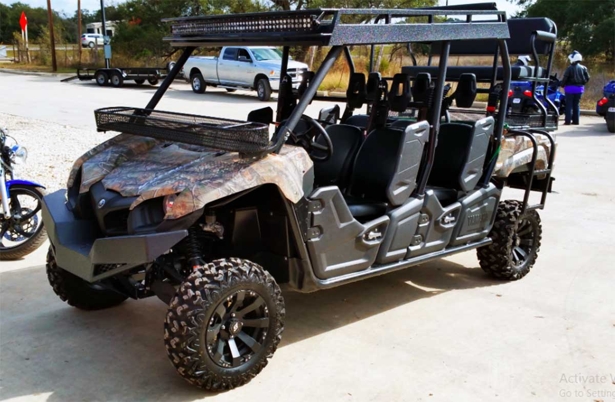 6 Seater Utv >> Yamaha Viking 6 Seater With Metal Roof By Texas Outdoor
