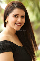 Mannara Chopra in Short Off Shoulder Black Dress ~  Exclusive 028.JPG