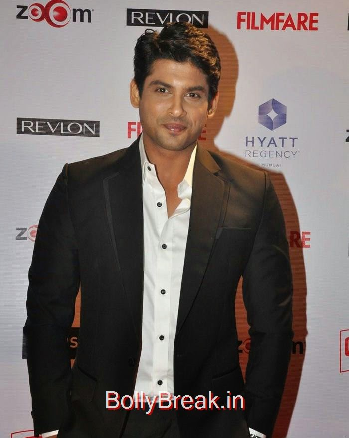 Siddharth Shukla, 60th Britannia Filmfare Awards pre-awards Party 2015 Red Carpet Pics