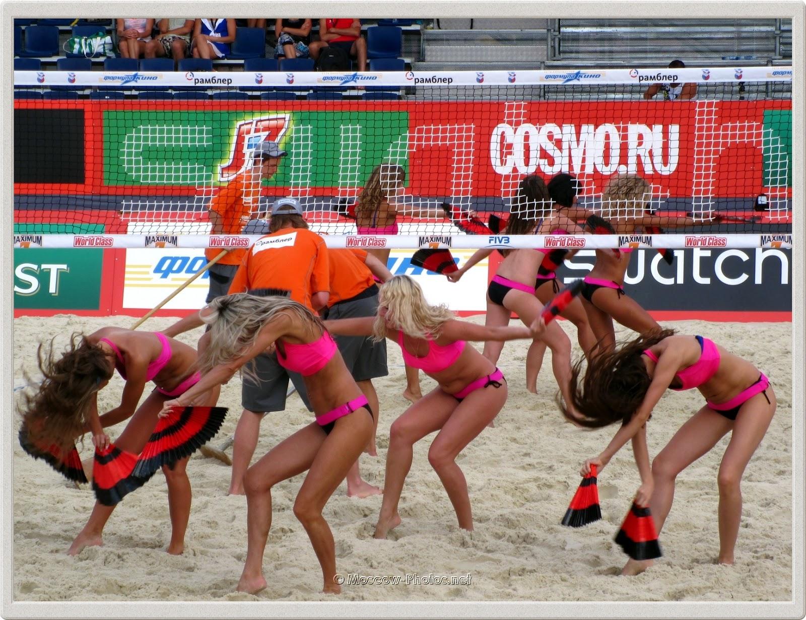 Summer Beach Volleyball Cheerleaders
