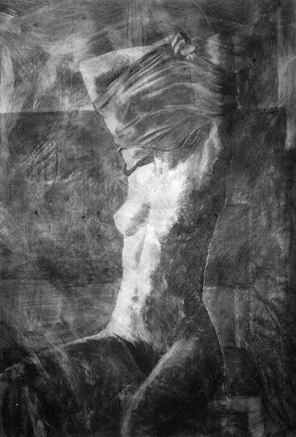Nude Undressing - Painting -  Rosemary Marchetta