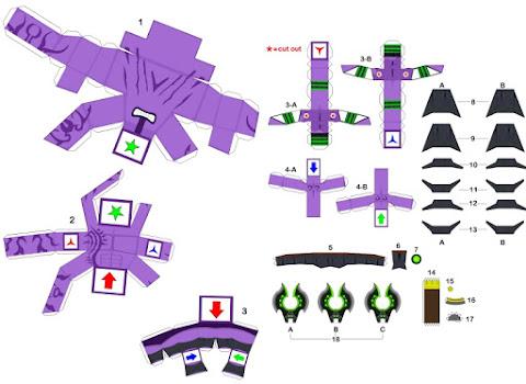 chibi faceless void paper model instruction