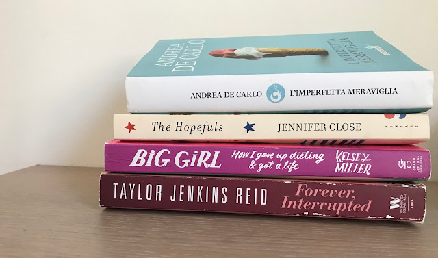 Books: L'imperfetta Meraviglia | The Hopefuls | How I gave up dieting and got a life | Forever, interrupted