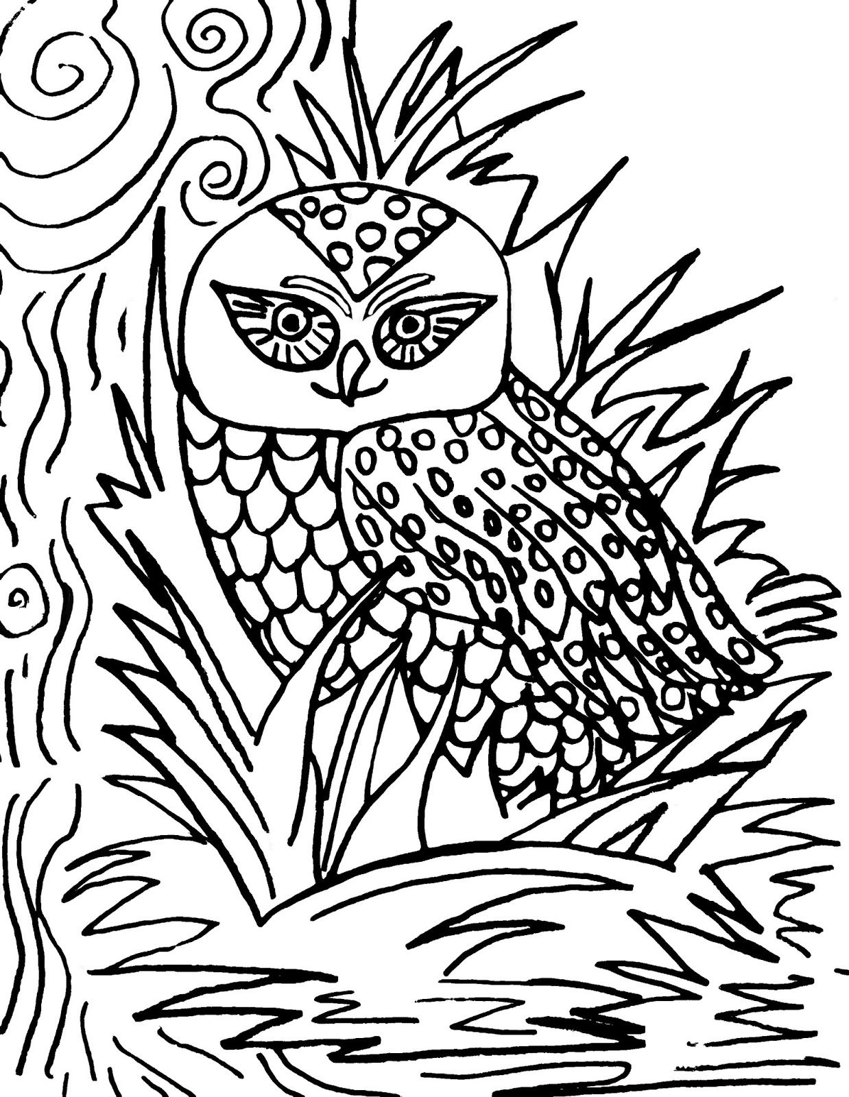 Christian Images In My Treasure Box: Home Drawn Owl