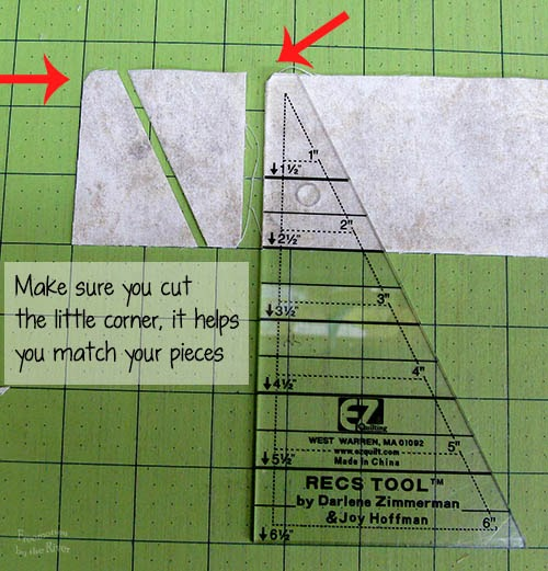 cut corner when using the Tri Rec tools