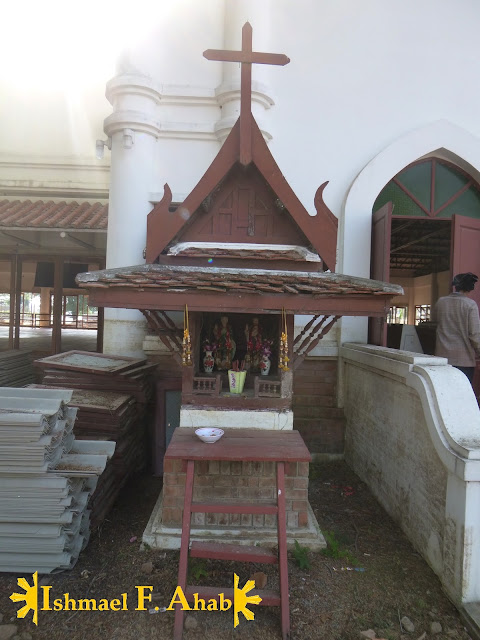 Small house for Saint Peter and Saint Paul in Ayutthaya Historical Park