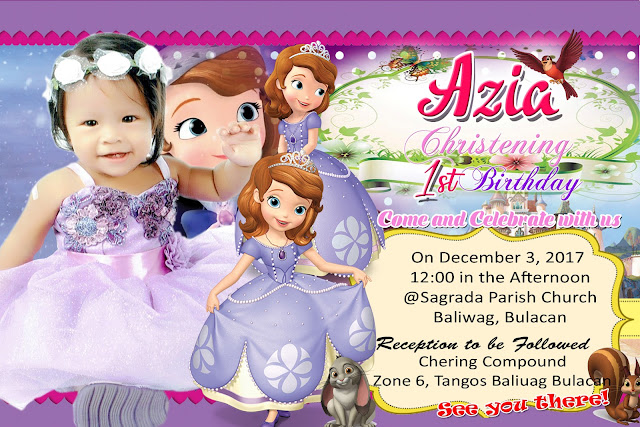Purple Sofia The First Sample Invitation Design Get Layout