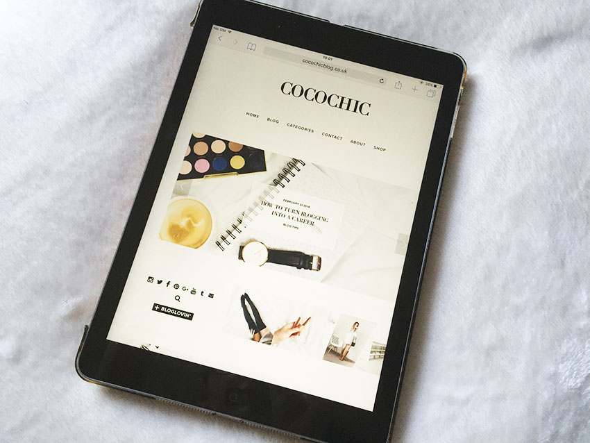 cocochicblog.com on ipad.