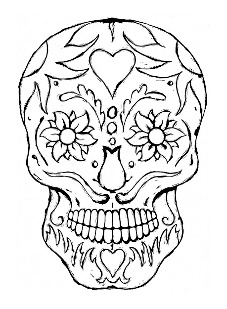 Sugar Skull Coloring Pages  Google Search