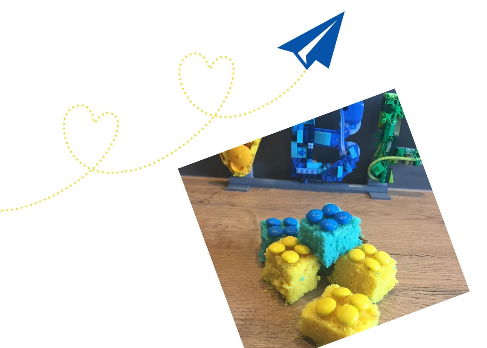 "lego cakejes van de site ""Veel bouw plezier"""