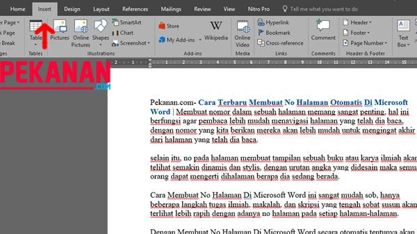 Cara Terbaru Membuat No Halaman Otomatis Di Microsoft Word