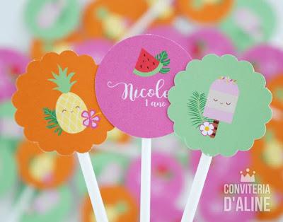 festa frutas flores verão decoração
