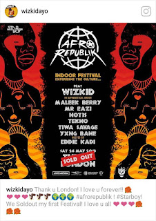 Wizkid just sold out London's O2 Arena