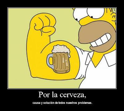 Desmotivacion Homero Simpson cerveza
