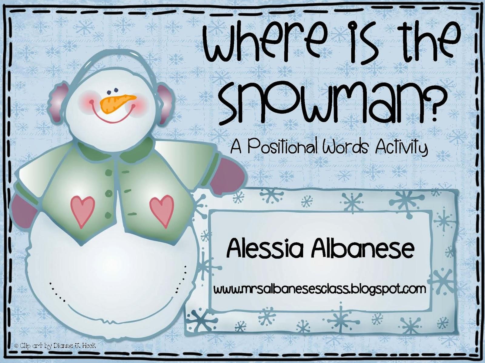 Mrs Albanese S Kindergarten Class Where Is The Snowman Freebie