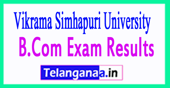 Vikrama Simhapuri University B.Com 2017 Exam Results