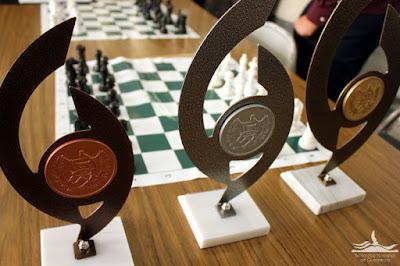 Premios del certamen de ajedrez