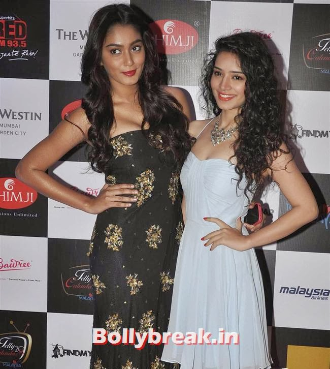 Sana Khan and Sukirti Kandpal, Tv babes at Telly Calendar 2014 Launch