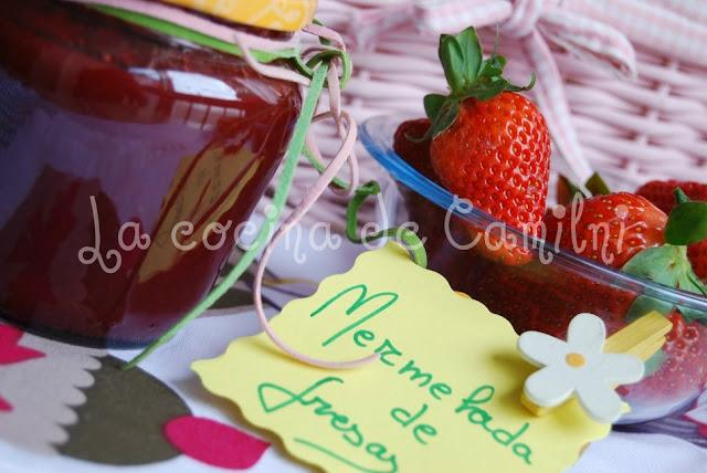 Mermelada de fresas al toque de canela y jengibre (La cocina de Camilni)