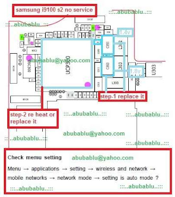 i9100 Network solution, no service problem, i9100 no network solution, Samsung Galaxy S2/i9100 week network signal.