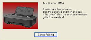 Cara Mengatasi Printer Canon Error 5200 Pada Perinter Canon IP2700 Dan IP2770