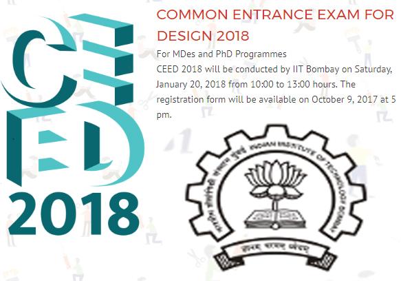 CEED Application Form Online Registration Link Exam Notification