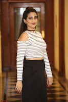 Manjusha in sleevelss crop top and black skirt at Darshakudu pre release ~  Exclusive Celebrities Galleries 052.JPG
