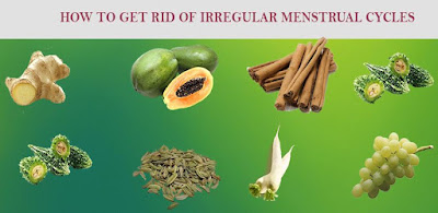 get rid of irregular menstrual cycle