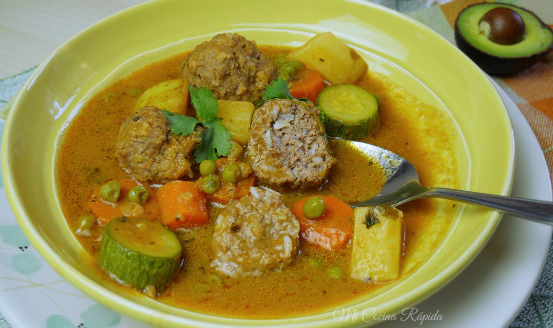 Sopa de alb ndigas mi cocina r pida for Albondigas de verduras