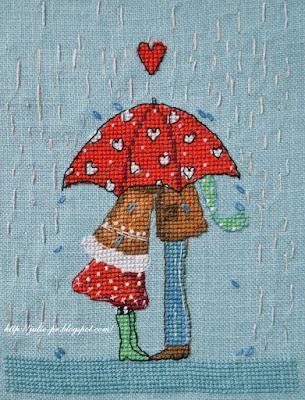 Neocraft ПР-07 Сердечный зонт, вышивка крестом