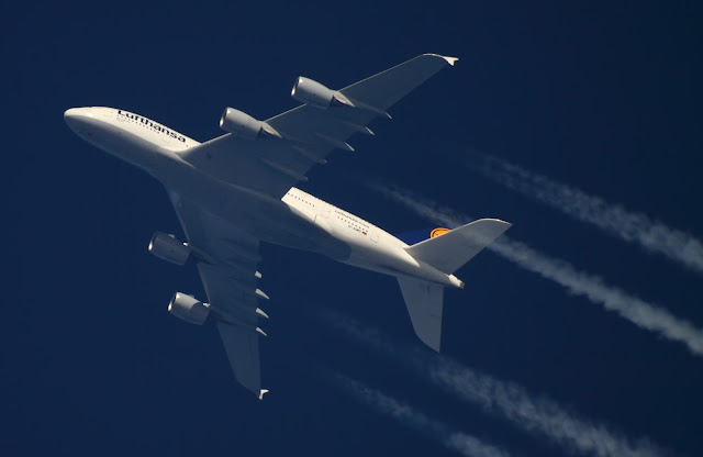 Airbus A380 Lufthansa View From Below