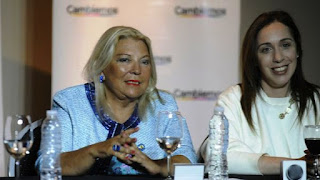 La diputada y la gobernadora respondieron preguntas a través de una videoconferencia. Hoy recorrerán juntas La Plata y Mar del Plata