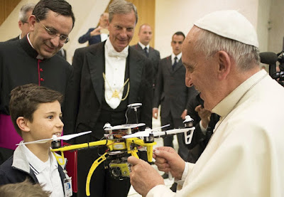 Pope gets a drone