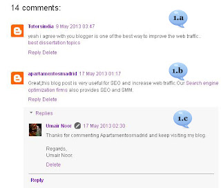 Add | Give Comment Numbering On Blogger Threaded Comments Using Best Tricks