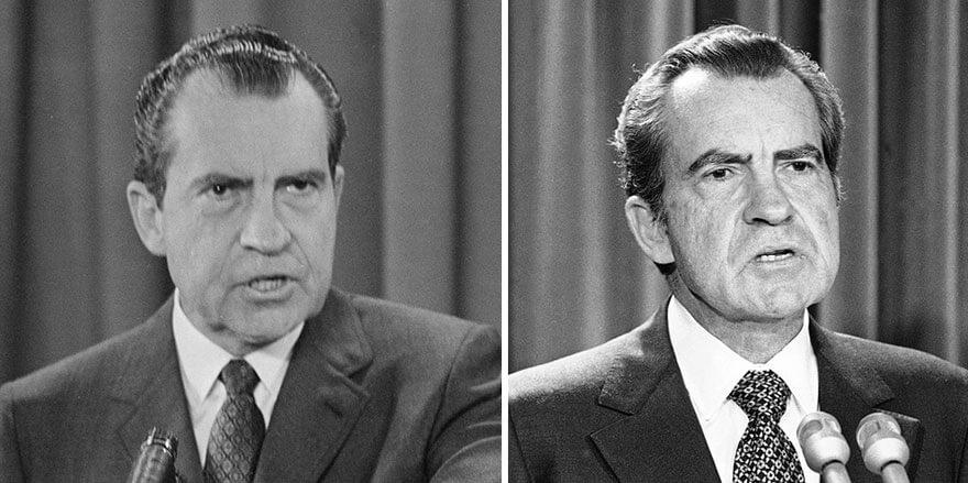 15 Before And After Photos Of US Presidents Depict How Their Job Transformed Them - Richard Nixon (1969-1974)