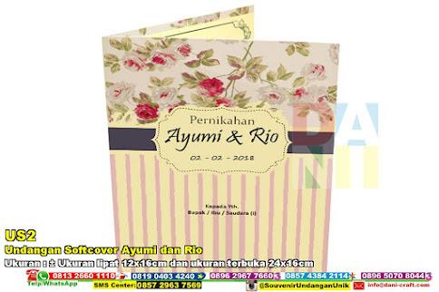 Undangan Softcover Ayumi Dan Rio