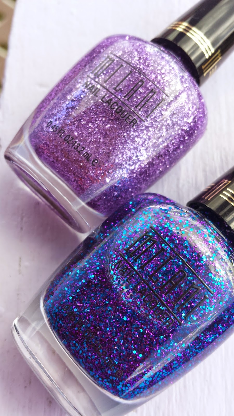 Milani 'Lavender Fizz' and 'Twinkle' glitters - www.modenmakeup.com