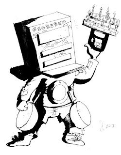 The Temple of Cartoon Mojo: Dead Space timed sketch challenge
