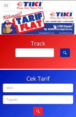 Website resmi TIKI terbaru sangat responsif.