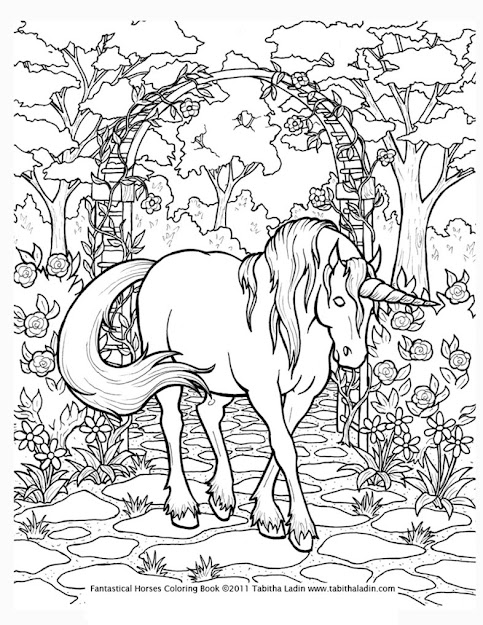 Coloring Pages For Adults Only  Unicorn Coloring Page By Tablynn On  Deviantart